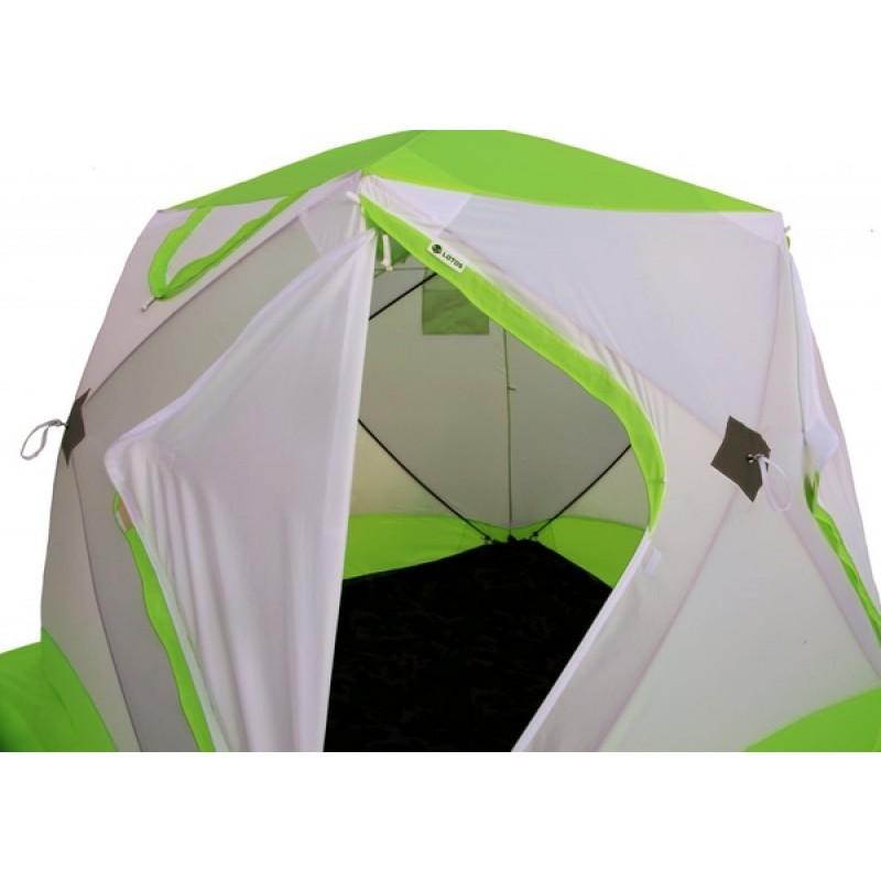 Зимняя палатка ЛОТОС Куб 3 Классик А8 (оранжевый) (фото 3)