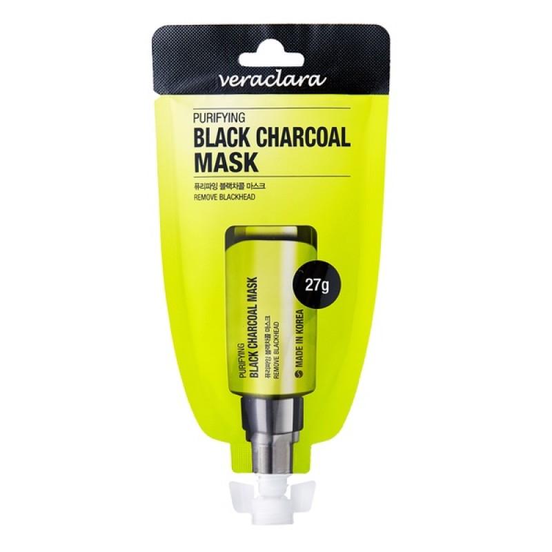 Маска для лица угольная очищающая Veraclara PURIFYING BLACK CHARCOAL MASK