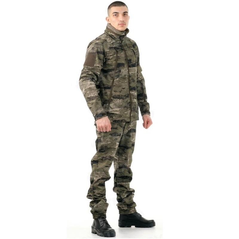 Летний костюм для охоты и рыбалки «Альфа» +5 (софт-шелл, рельеф) 7.62
