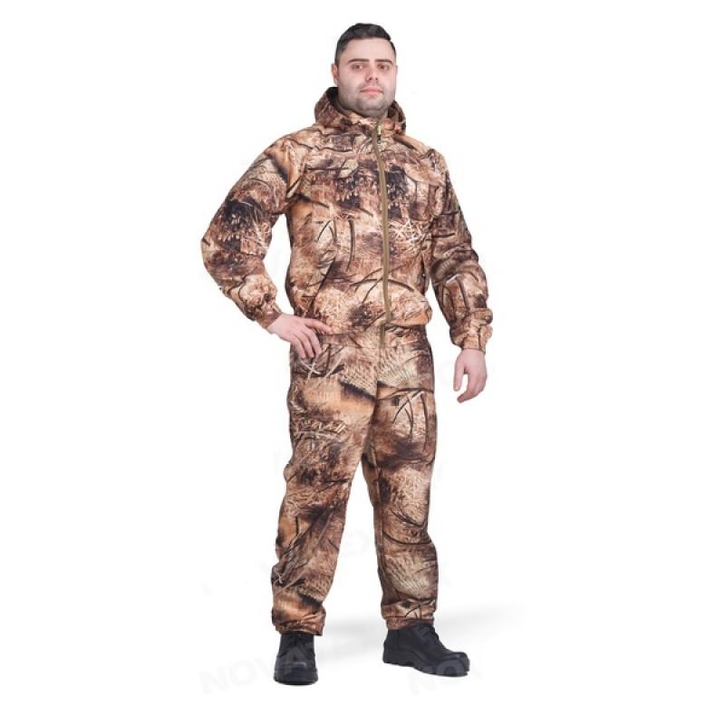 Осенний костюм для рыбалки и охоты Сокол 0° (Алова, Рожь/Камыш 2) КВЕСТ (подкладка флис)