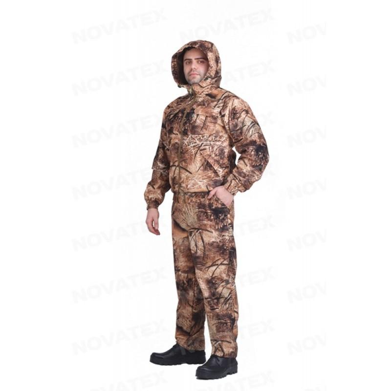 Осенний костюм для рыбалки и охоты Сокол 0° (Алова, Рожь/Камыш 2) КВЕСТ (подкладка флис) (фото 2)