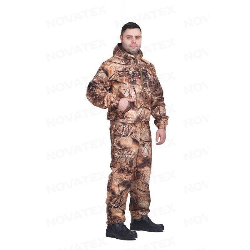 Осенний костюм для рыбалки и охоты Сокол 0° (Алова, Рожь/Камыш 2) КВЕСТ (подкладка флис) (фото 3)