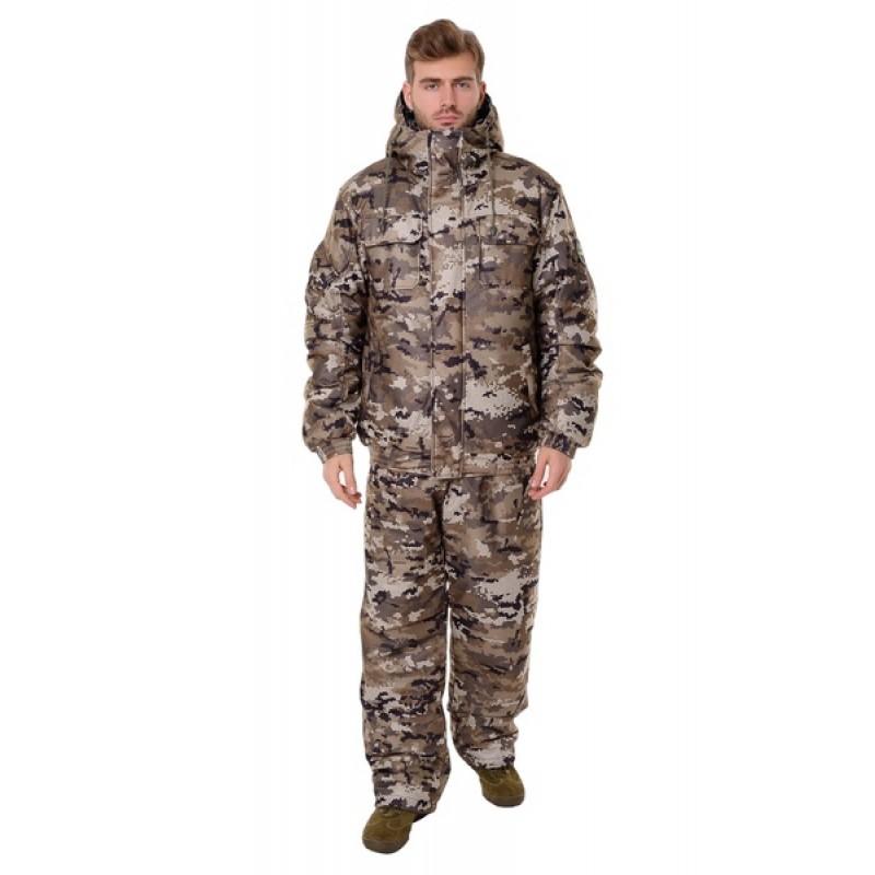 Зимний костюм для охоты и рыбалки ONERUS Патриот -45 (Алова, Бежевый) полукомбинезон