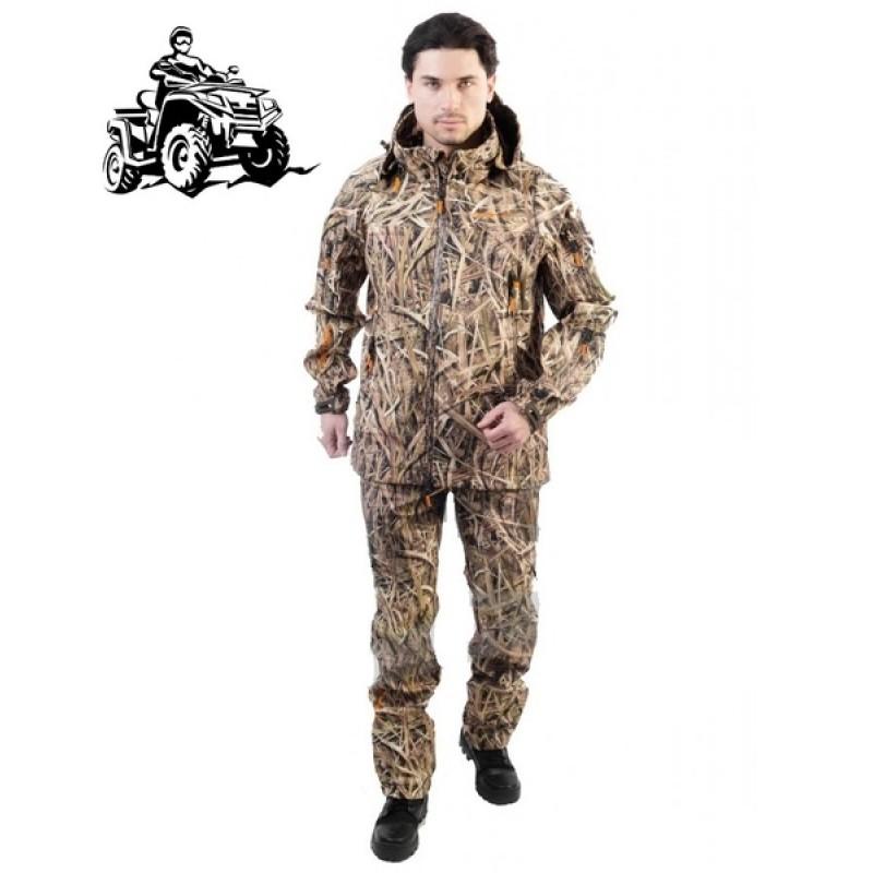 Летний костюм для рыбалки и охоты Triton Pro Duck Hunter (софтшелл, камыш)