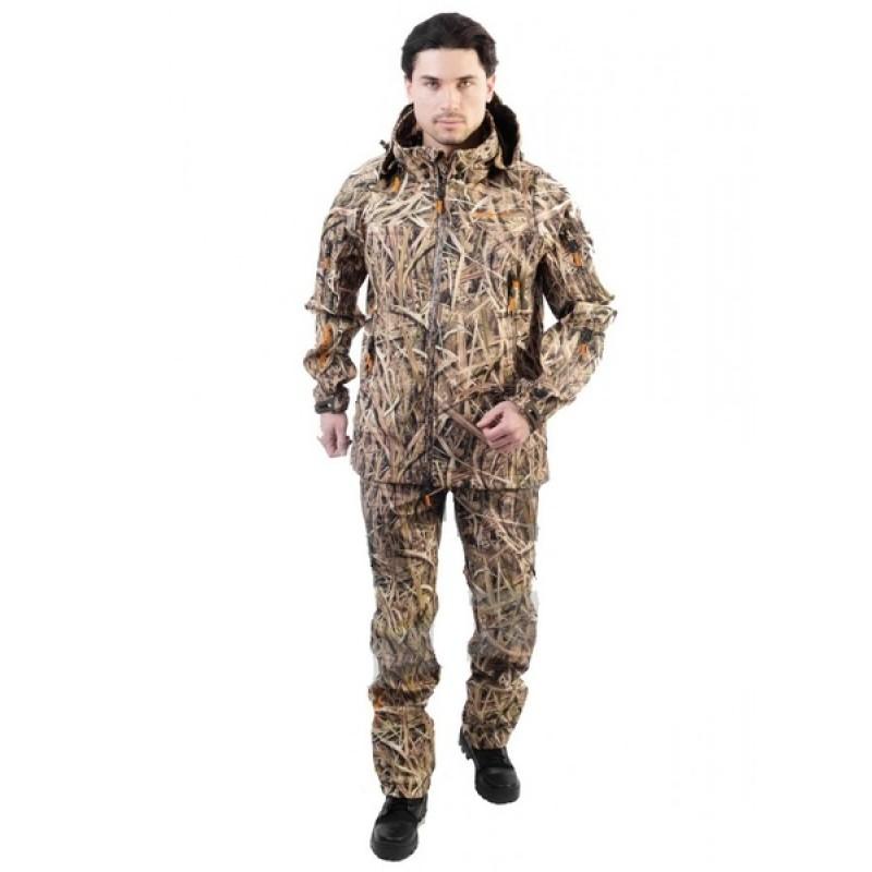 Летний костюм для рыбалки и охоты Triton Pro Duck Hunter (софтшелл, камыш) (фото 2)