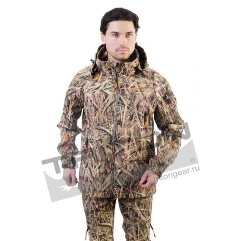 Летний костюм для рыбалки и охоты Triton Pro Duck Hunter (софтшелл, камыш) (фото 3)