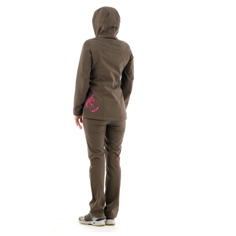 Летний женский костюм Медея (софт-шелл, хаки) PAYER (фото 3)