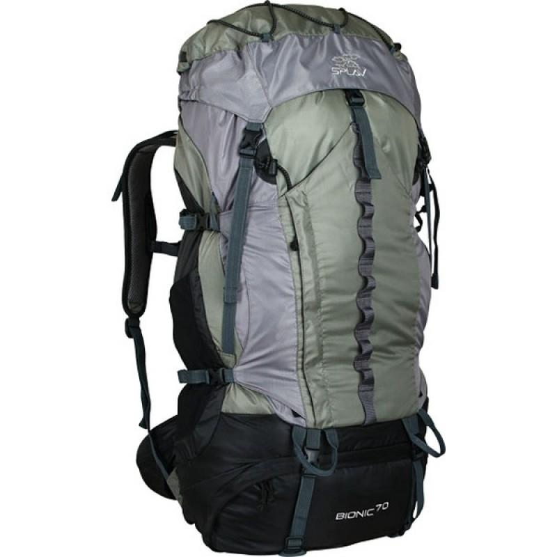 Туристический рюкзак СПЛАВ BIONIC 70 (зеленый/серый)