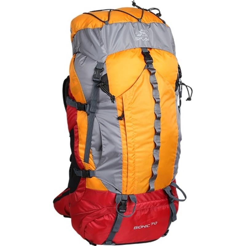 Туристический рюкзак СПЛАВ BIONIC 70 (зеленый/серый) (фото 2)