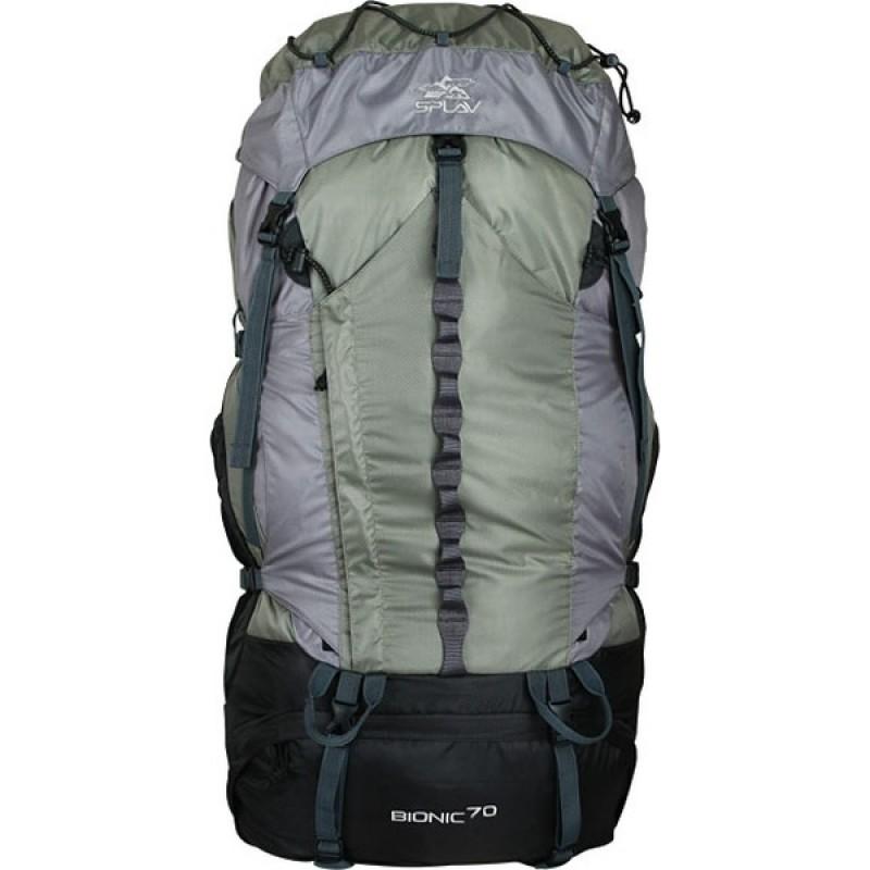 Туристический рюкзак СПЛАВ BIONIC 70 (зеленый/серый) (фото 3)