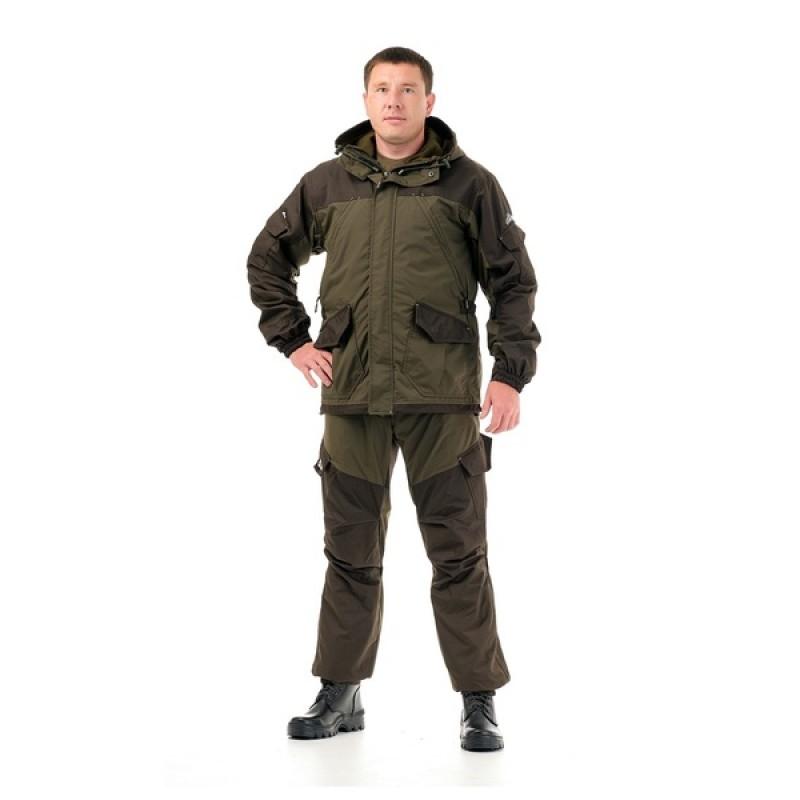 Осенний костюм для рыбалки «Скат Осень (-15)» (нейлон, хаки) GRAYLING