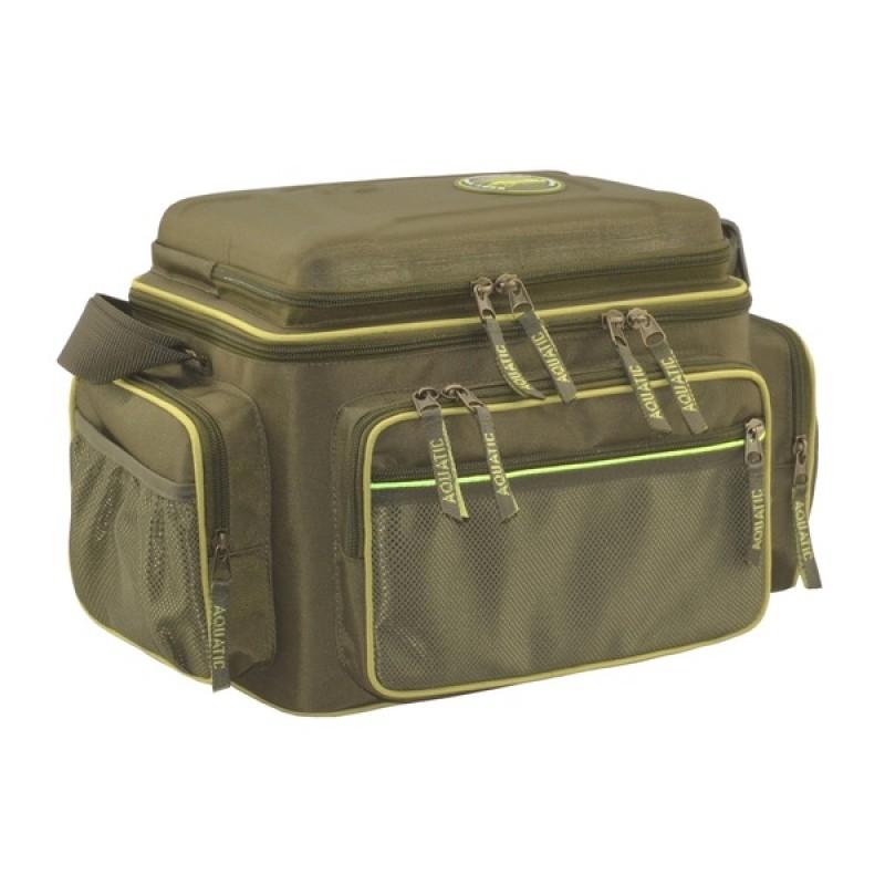 Термо-сумка Aquatic С-44Х с банками 18 шт. (цвет: хаки, размер: 32х23х27 см.) (фото 2)