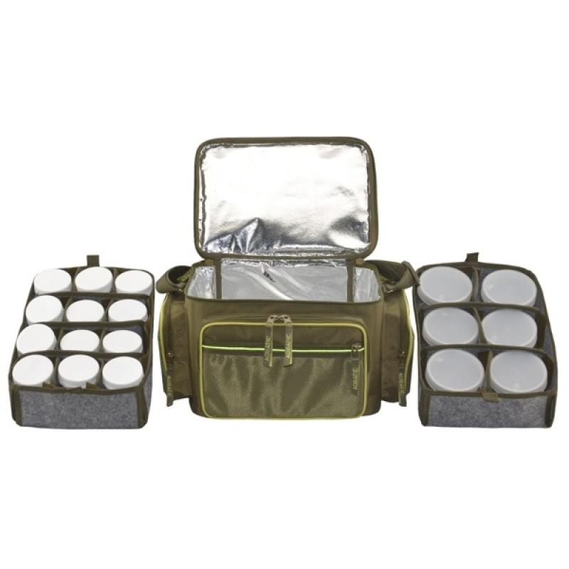 Термо-сумка Aquatic С-44Х с банками 18 шт. (цвет: хаки, размер: 32х23х27 см.) (фото 3)