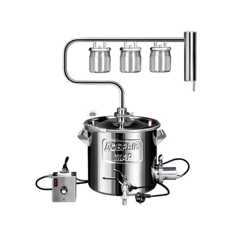 Самогонный аппарат (дистиллятор) Добрый жар ЛУЧ 30 литров (съемный ТЭН)