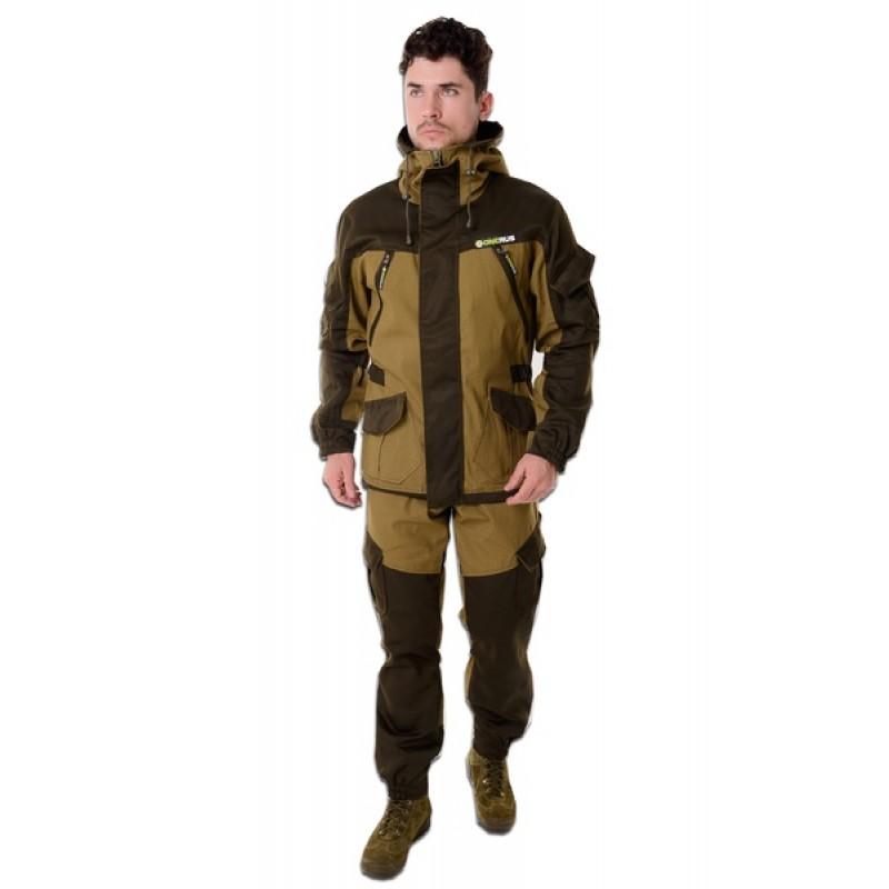 Демисезонный костюм для охоты и рыбалки ONERUS Горный -5 (Палатка, св. хаки) Флис подклад