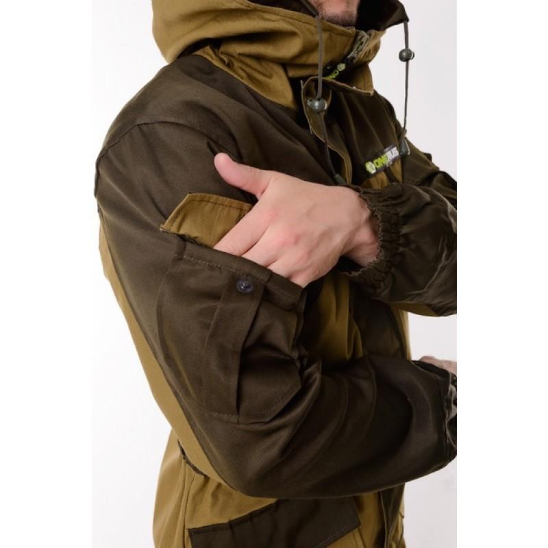 Демисезонный костюм для охоты и рыбалки ONERUS Горный -5 (Палатка, св. хаки) Флис подклад (фото 3)