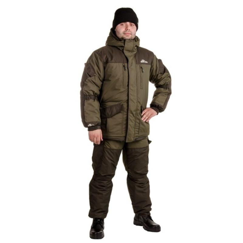 Зимний костюм для рыбалки «Скат Зима NEW» -45 (Таслан, Хаки) (Комбинезон) GRAYLING