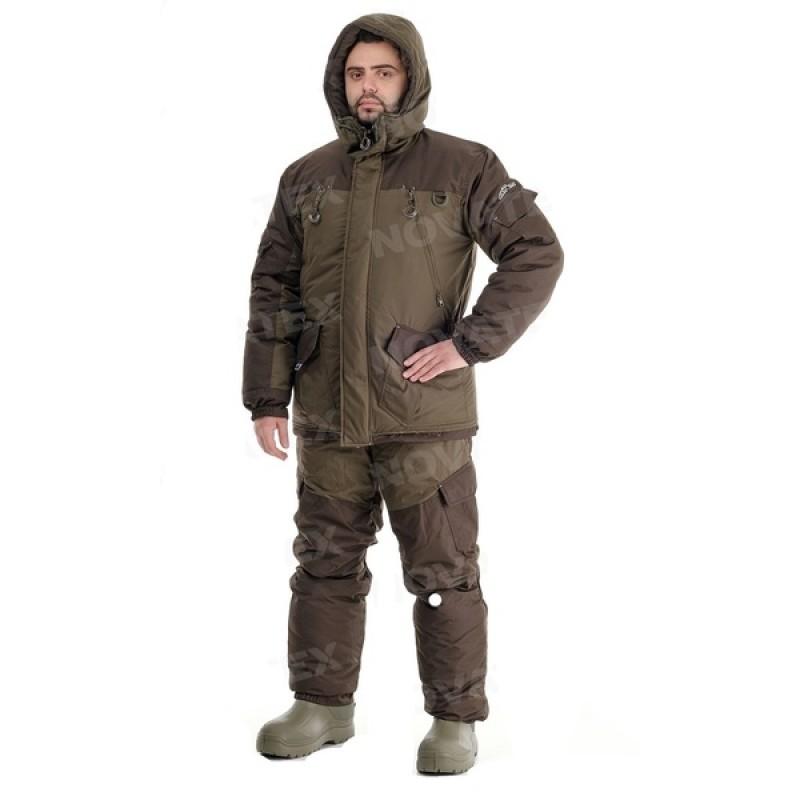 Зимний костюм для рыбалки «Скат Зима NEW» -45 (Таслан, Хаки) (Комбинезон) GRAYLING (фото 2)