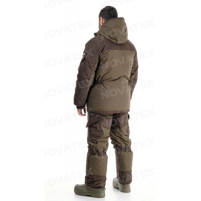 Зимний костюм для рыбалки «Скат Зима NEW» -45 (Таслан, Хаки) (Комбинезон) GRAYLING (фото 3)