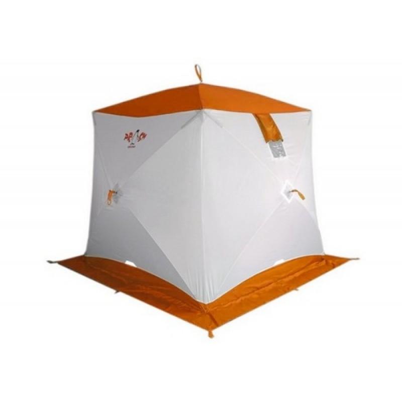 Палатка для зимней рыбалки Пингвин Призма (1-сл, В95Т1) бело-оранжевая (фото 2)