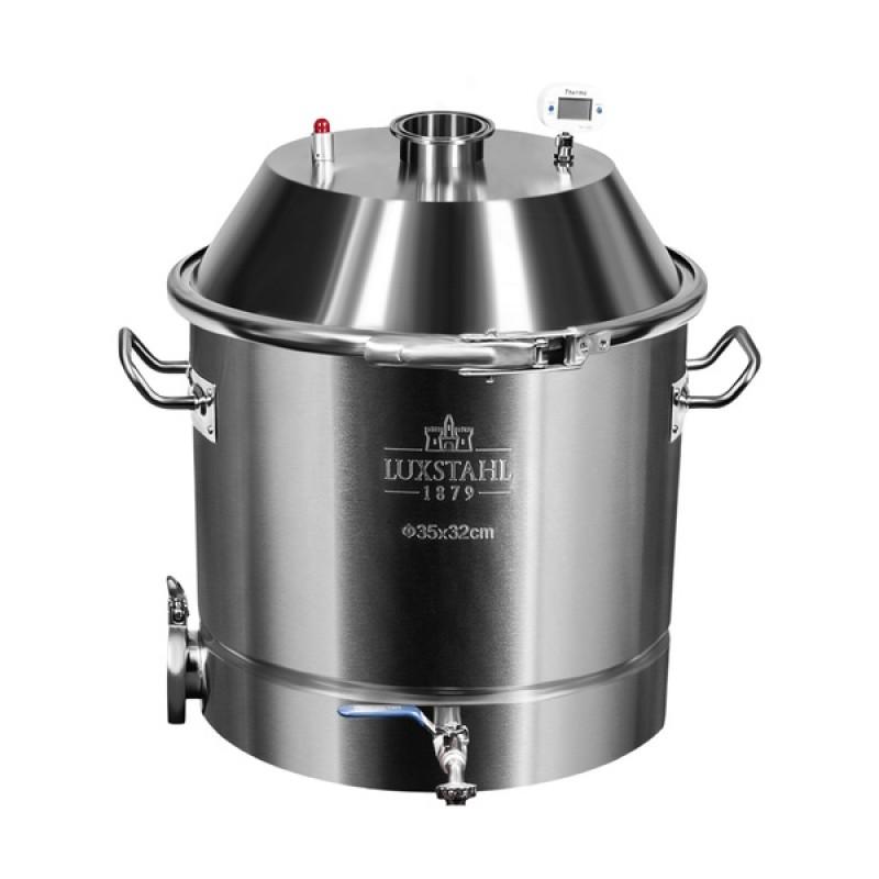 Самогонный аппарат (дистиллятор) Добрый жар ЛЮКС 30 литров (съемный ТЭН) (фото 3)