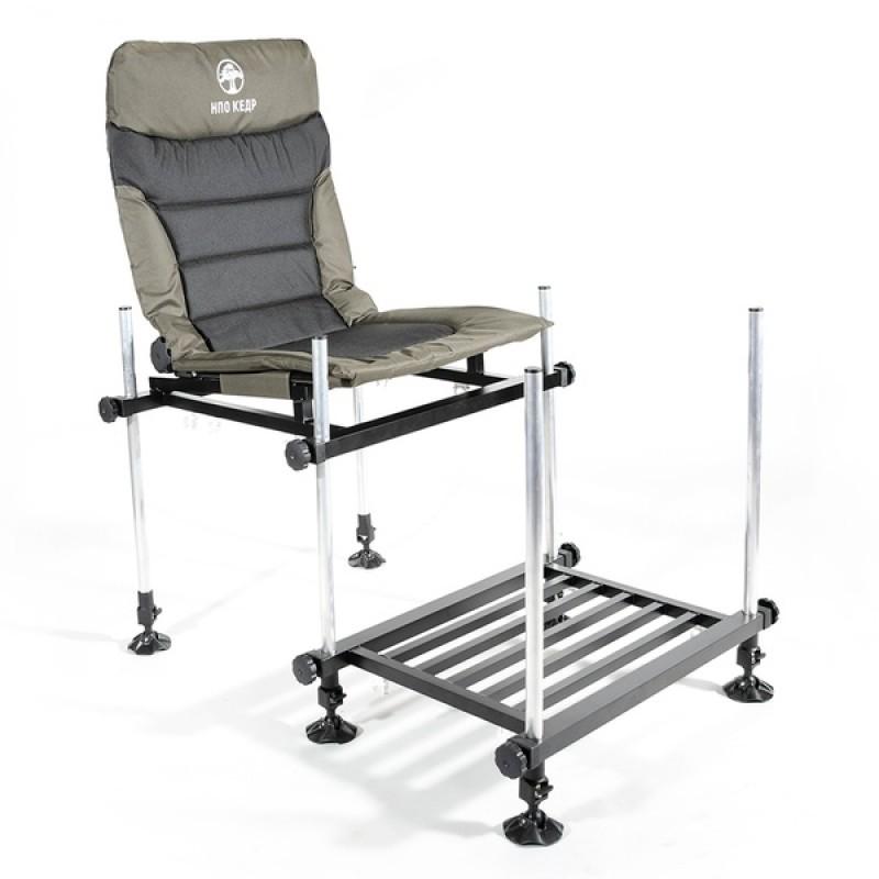 Кресло фидерное КЕДР MAX с педаной SKF-03 (алюминий)