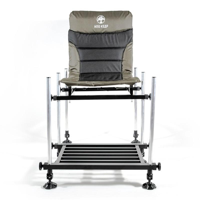 Кресло фидерное КЕДР MAX с педаной SKF-03 (алюминий) (фото 2)