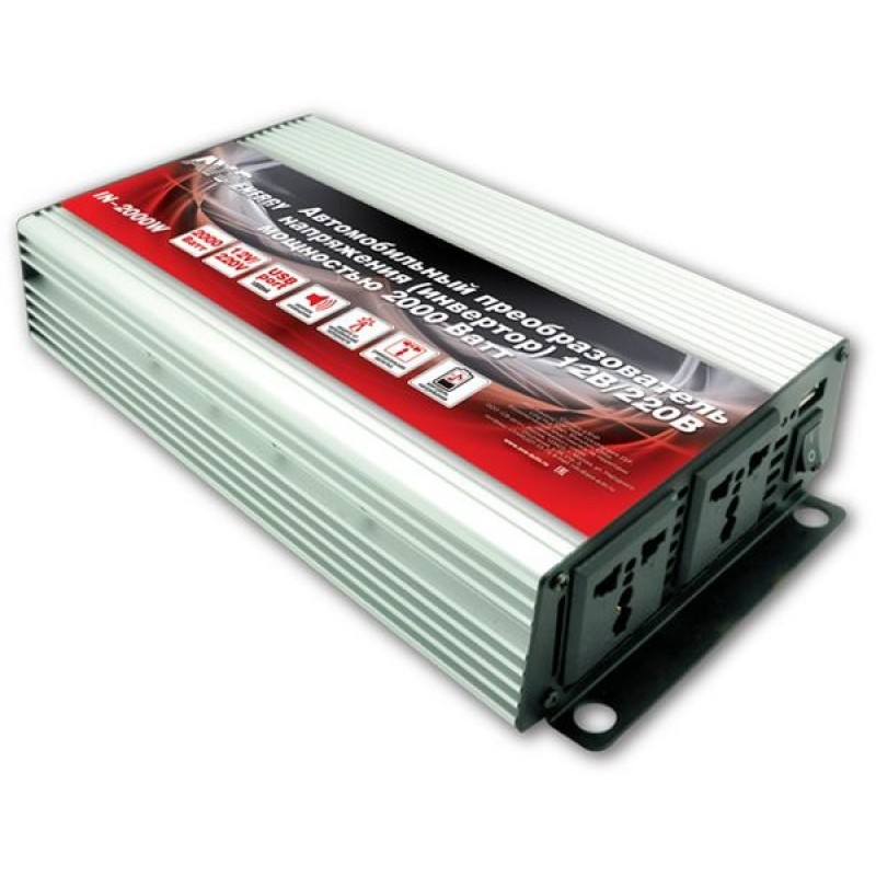 Преобразователь напряжения 12-220 AVS Energy 12/220V IN-2000W