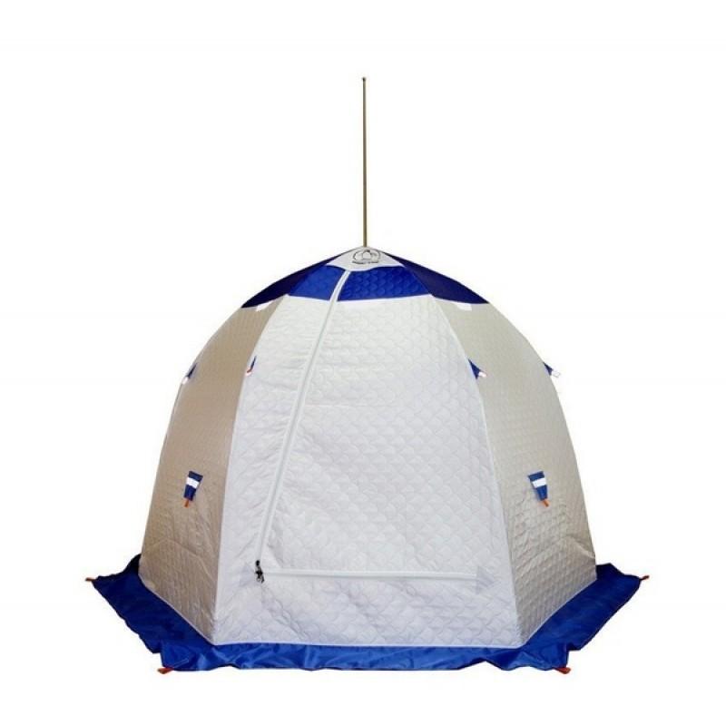 Палатка для зимней рыбалки Зонт Пингвин 3 Термолайт белый-синий