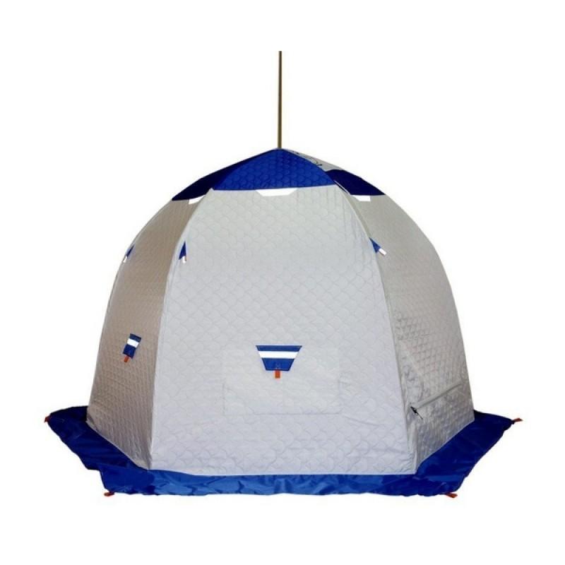 Палатка для зимней рыбалки Зонт Пингвин 3 Термолайт белый-синий (фото 2)