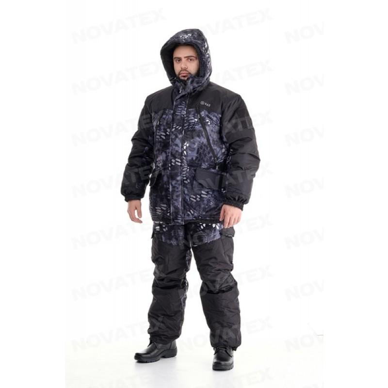 Зимний костюм для охоты и рыбалки «Горка Зима» -45° (Алова, Черный питон) 7,62 (фото 2)