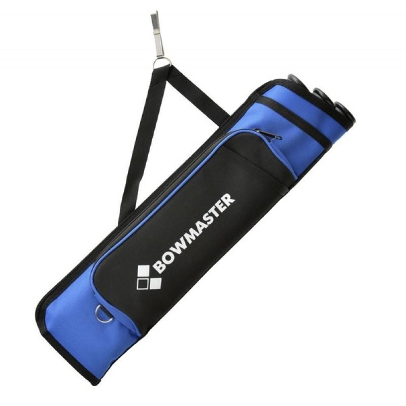 Колчан для стрел Bowmaster 3 тубы с 1 карманом Синий