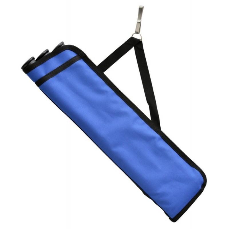 Колчан для стрел Bowmaster 3 тубы с 1 карманом Синий (фото 2)