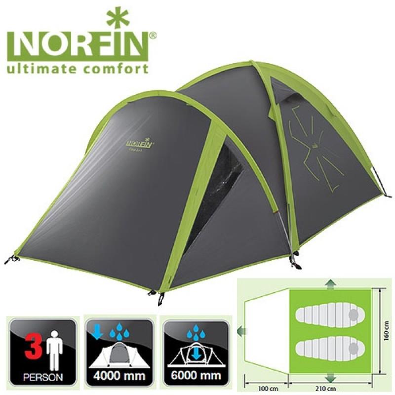 Палатка Norfin CARP 2+1 ALU NF (алюминиевые дуги) (фото 2)