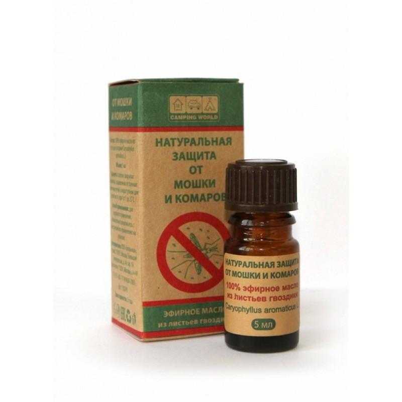 Натуральная защита от мошек и комаров CW (масло гвоздики, 5 мл)