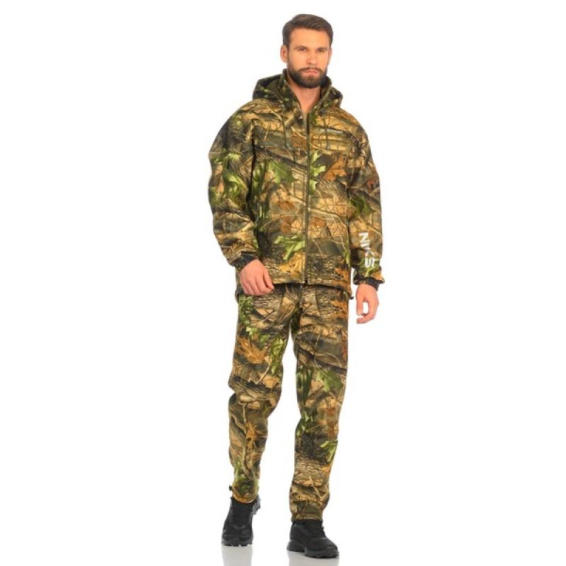 Демисезонный костюм Huntsman Никс ЛЮКС цвет Светлый Лес ткань Alova windblock