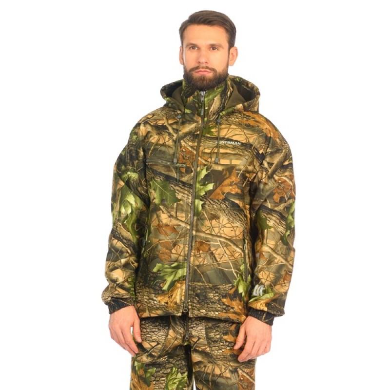 Демисезонный костюм Huntsman Никс ЛЮКС цвет Светлый Лес ткань Alova windblock (фото 2)