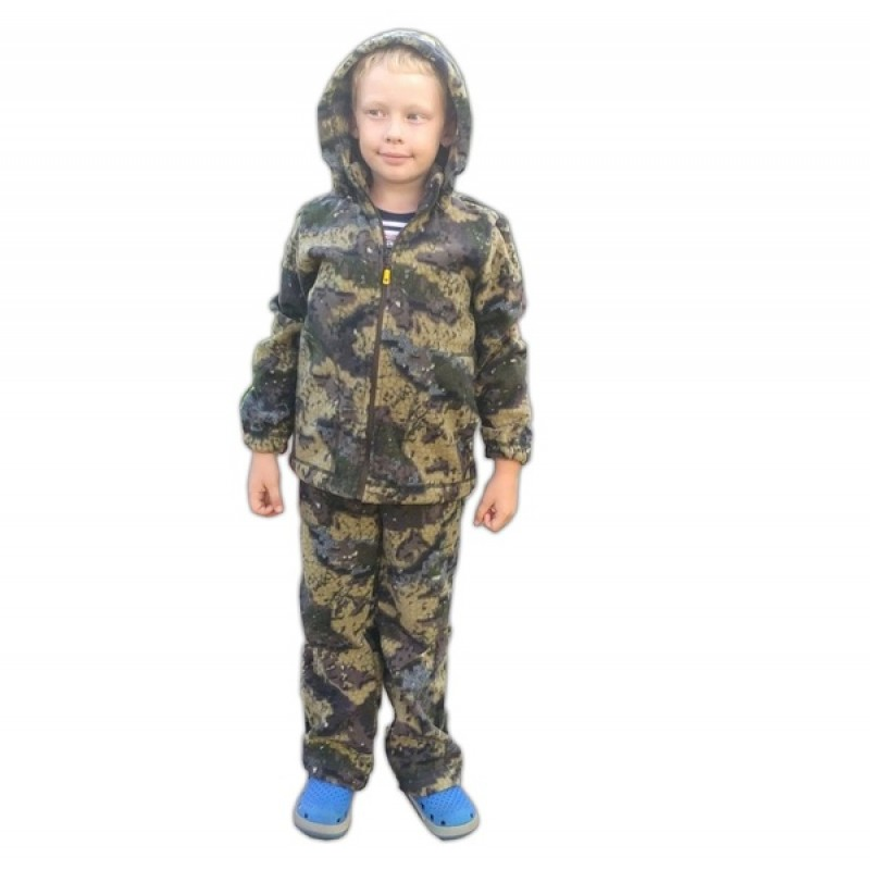 Детский костюм «Никс» (флис, геометрия хаки) МАУГЛИ