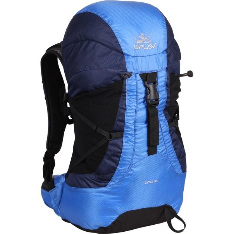 Туристический рюкзак СПЛАВ LYNX 35 (черный, синий)