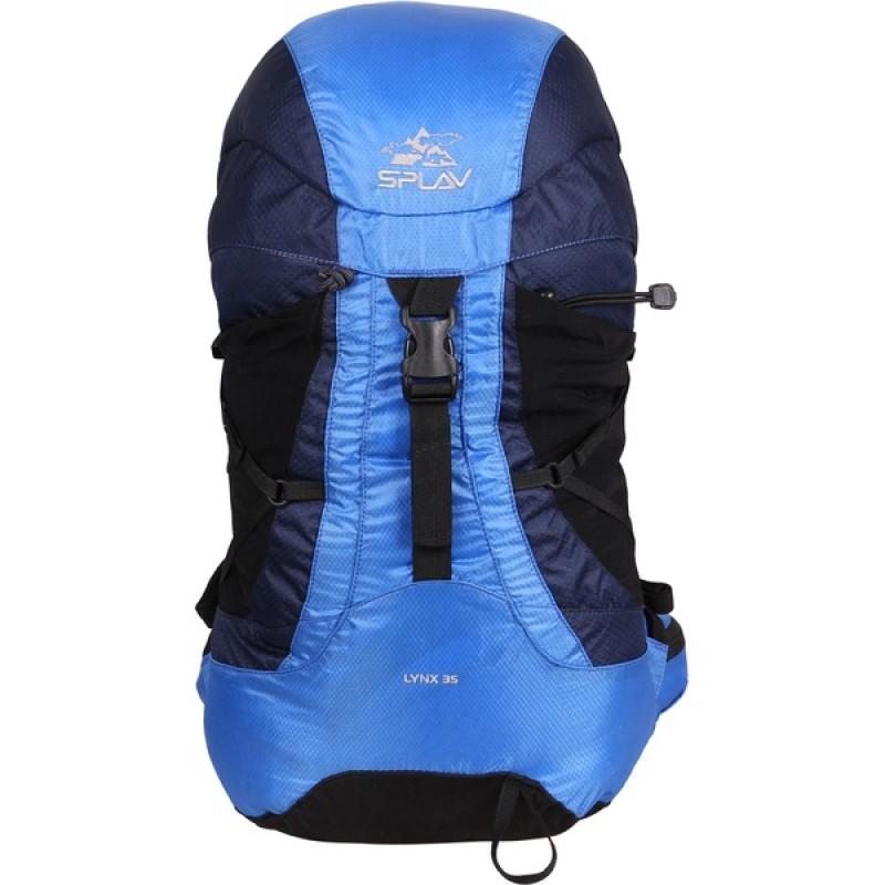 Туристический рюкзак СПЛАВ LYNX 35 (черный, синий) (фото 2)