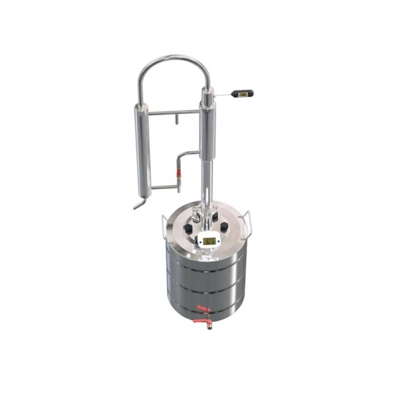 Самогонный аппарат (дистиллятор) ФЕНИКС Зенит (Классический куб с теном) 40 литров (фото 2)