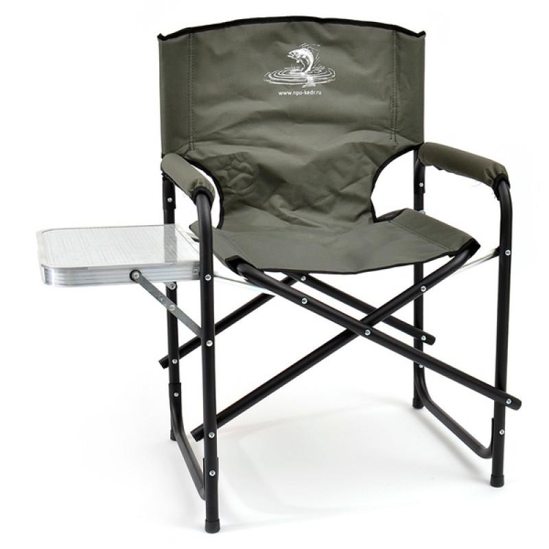 Кресло складное КЕДР со столиком SK-05 (сталь, хаки)