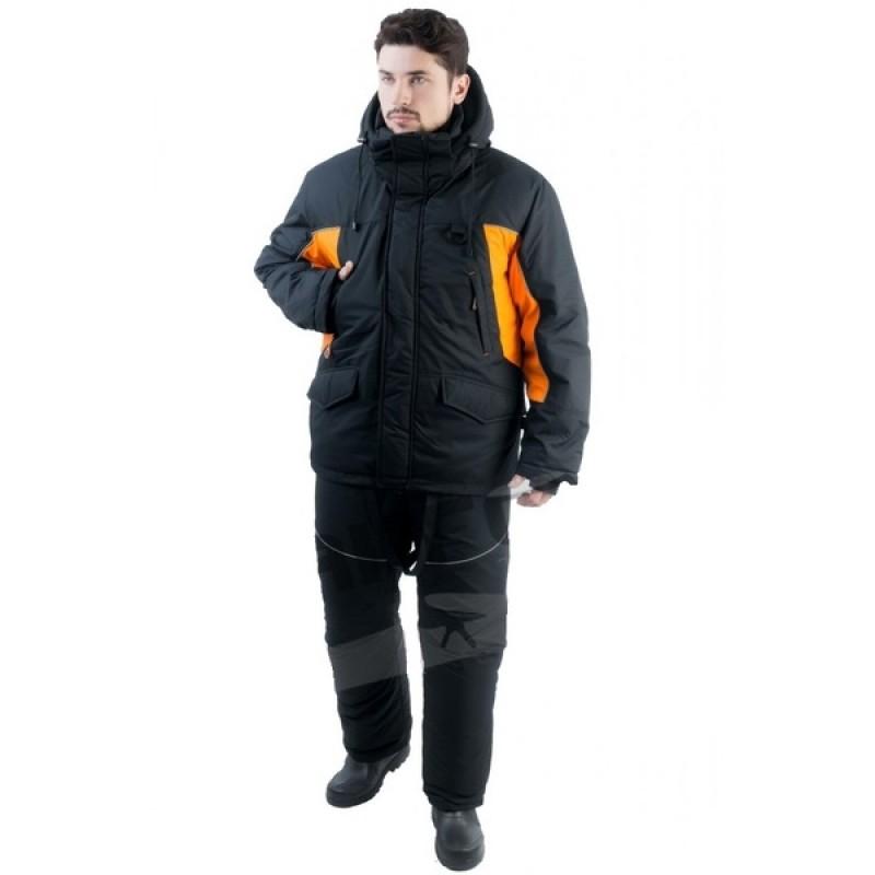 Зимний костюм для рыбалки и охоты TRITON Скиф -40 (Таслан, Черно-оранжевый) Поплавок
