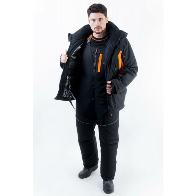 Зимний костюм для рыбалки и охоты TRITON Скиф -40 (Таслан, Черно-оранжевый) Поплавок (фото 3)