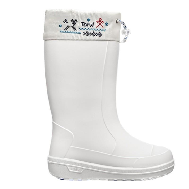 Зимние сапоги женcкие с манжетом TORVI ОНЕГА -40С ЭВА ТЭП белые