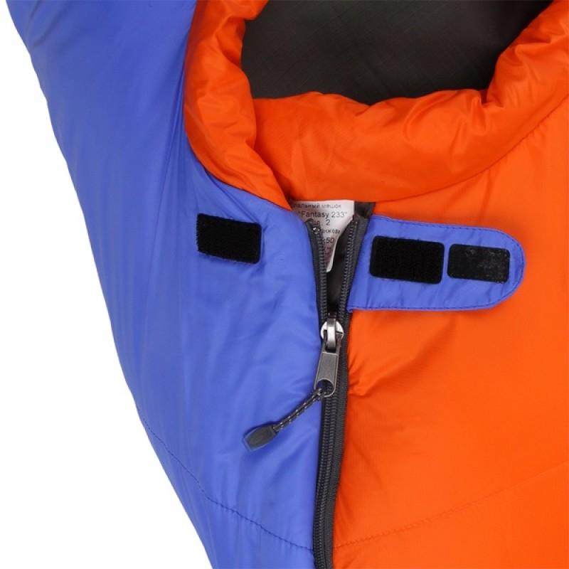 Спальный мешок СПЛАВ Fantasy 233 (синий/оранжевый, правый) (фото 3)