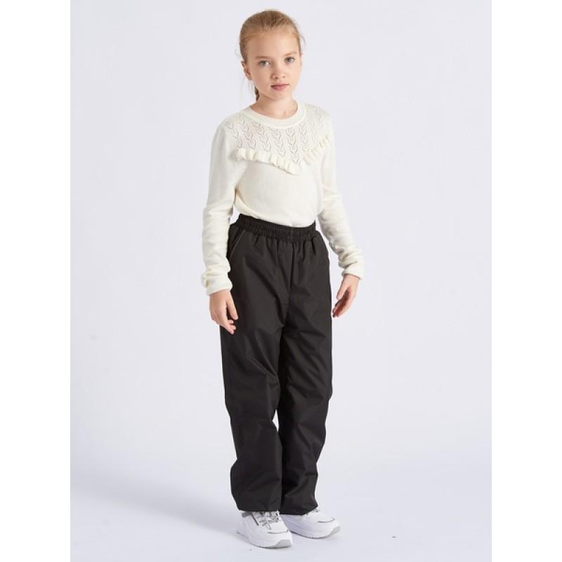 Подростковые утепленные осенние брюки для девочек KATRAN Young (дюспо, черный) (фото 2)