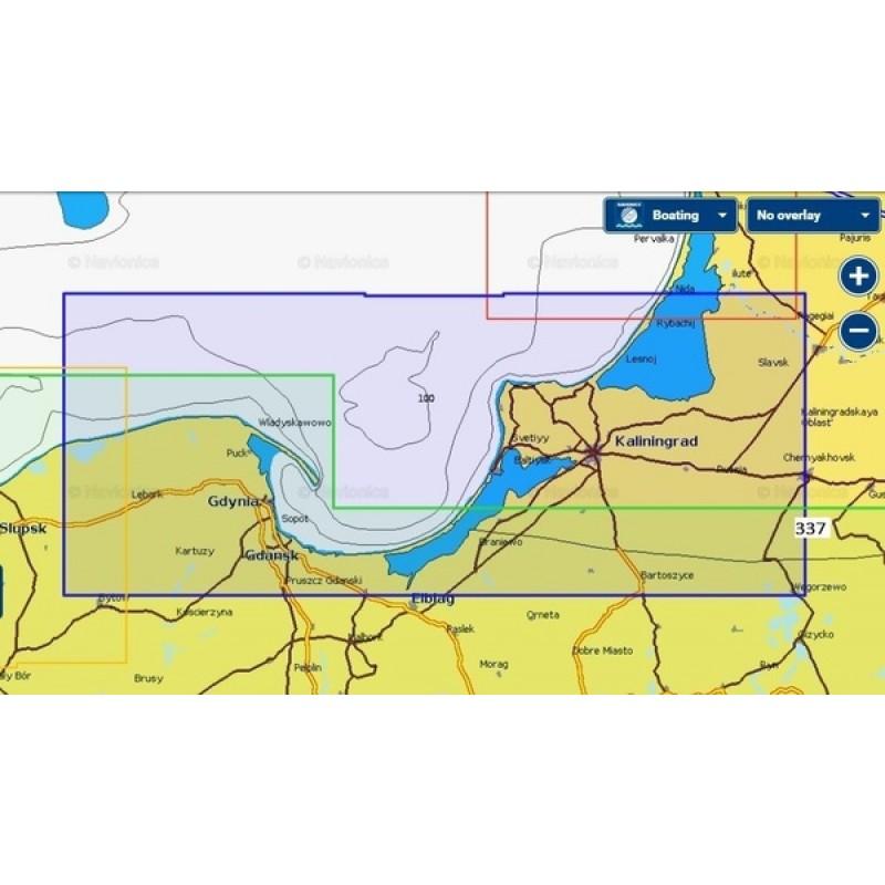 Карты Navionics Россия 5G337S Калининградская область