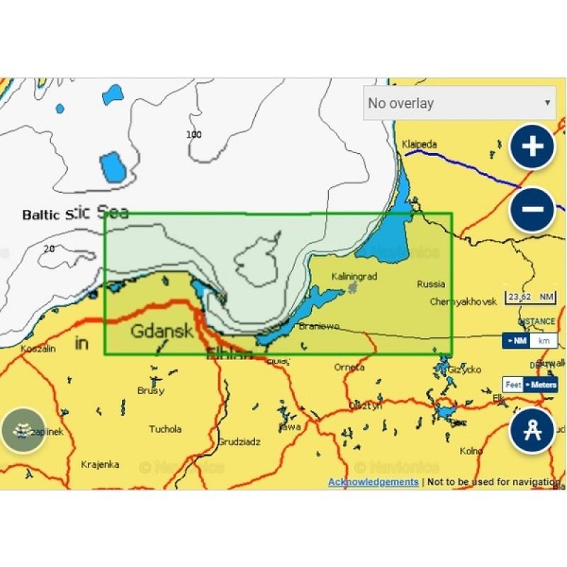 Карты Navionics Россия 5G337S Калининградская область (фото 2)