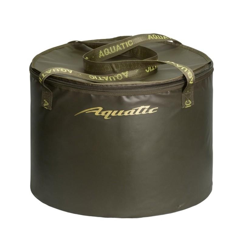 Ведро для замешивания прикормки Aquatic В-07 (герметичное, с крышкой) хаки